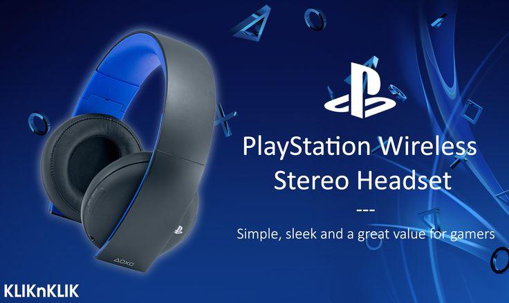 PlayStation Wireless Stereo Headset. Kualitas suara terbaik, kenyamanan tingkat tinggi menyatu dengan headset PS4 resmi dari Sony  Beli disini http://j.mp/2aLhkaI