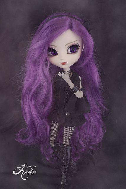 gorgeous pullip Akoya - I adore the wig <3