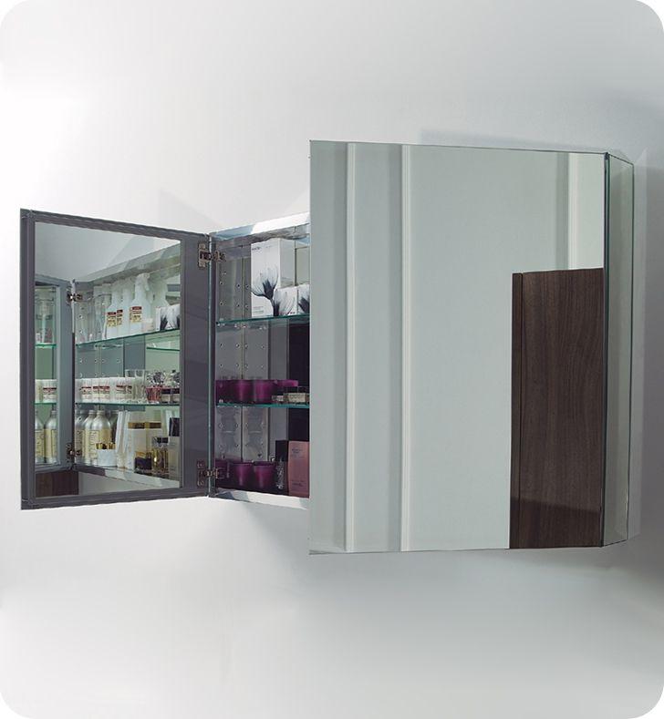 Bathroom Mirror Medicine Cabinet Recessed Mirrors And Medicine Cabinets Fresca 40 Wide