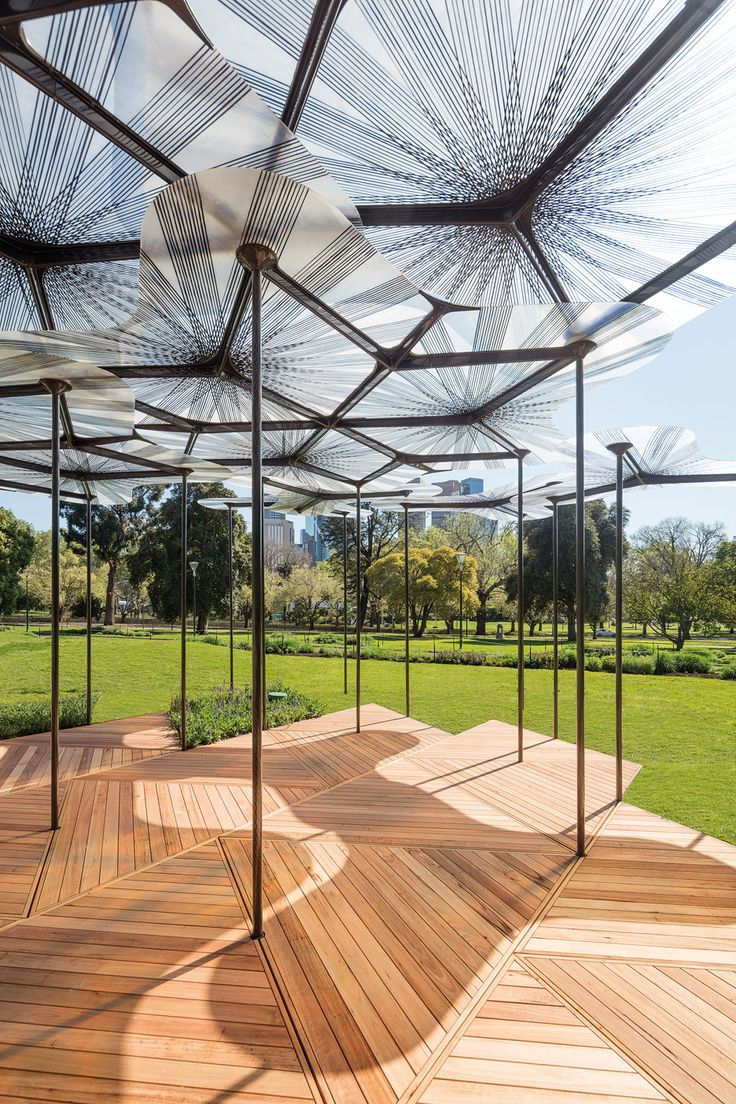 Amanda Levete's forest-inspired MPavilion opens in Melbourne.