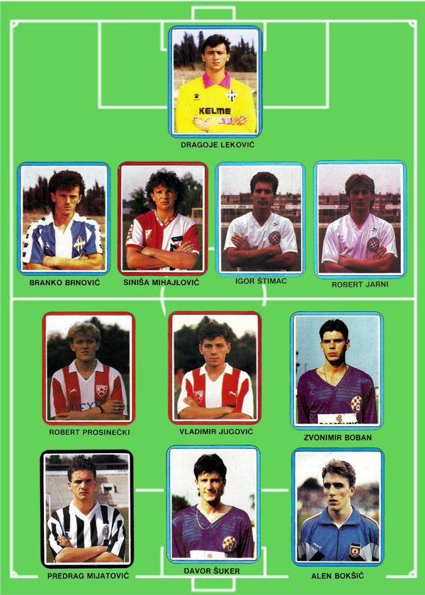 YOUGOSLAVIA U20 TEAM in 1987