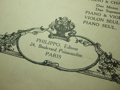 アンティークの楽譜 C-86 フランス蚤の市雑貨 アンティーク雑貨 アンティークショップ アイビー