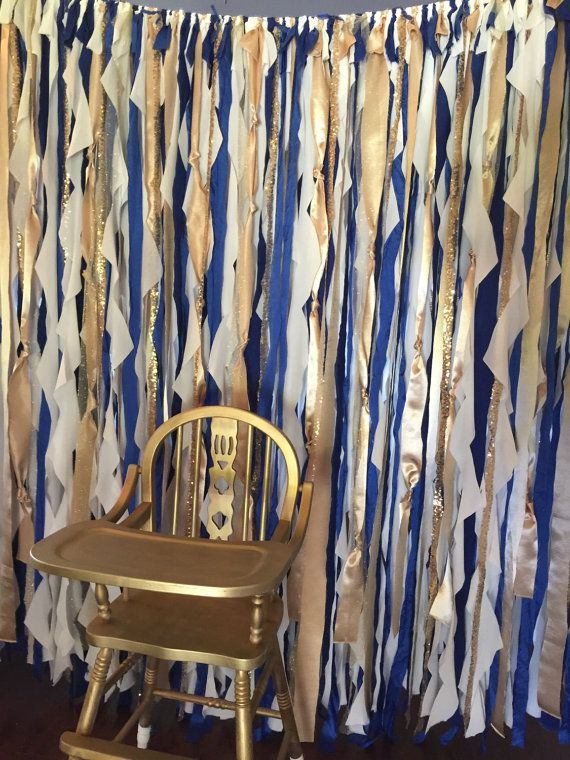 Royal Blue Gold Backdrop Royal Prince Party by WithLOVEeventdecor