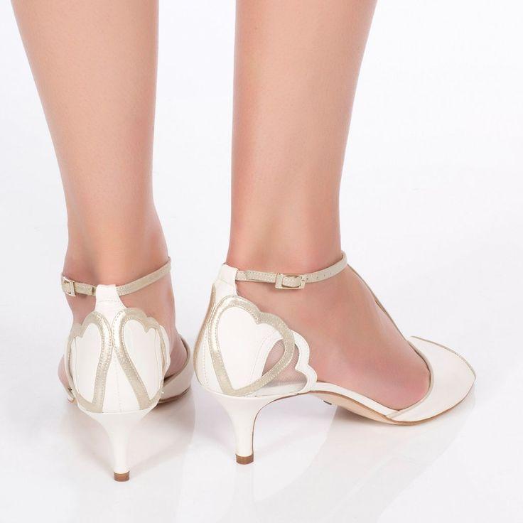 Kitten Heel Wedding Shoe Ivory Charlotte Mills