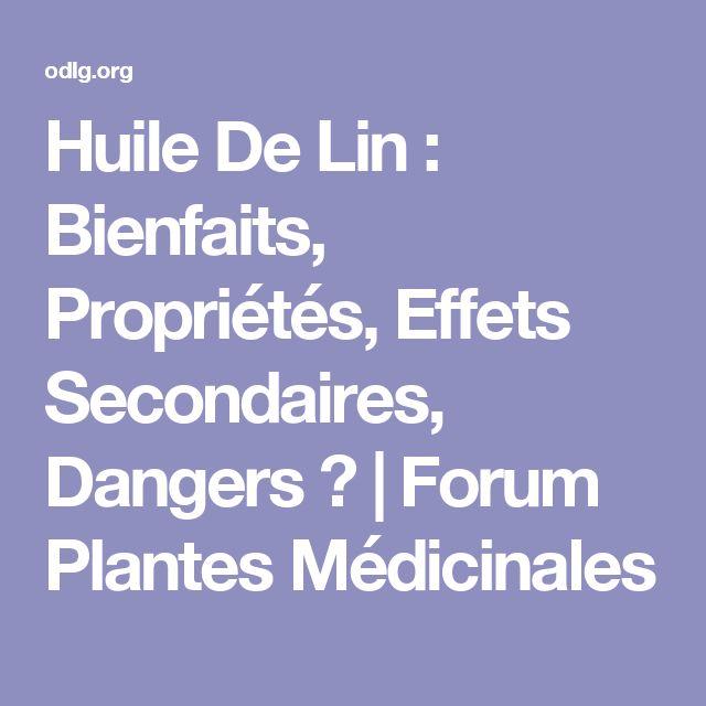 17 meilleures idées à propos de Huile De Lin Bienfaits sur