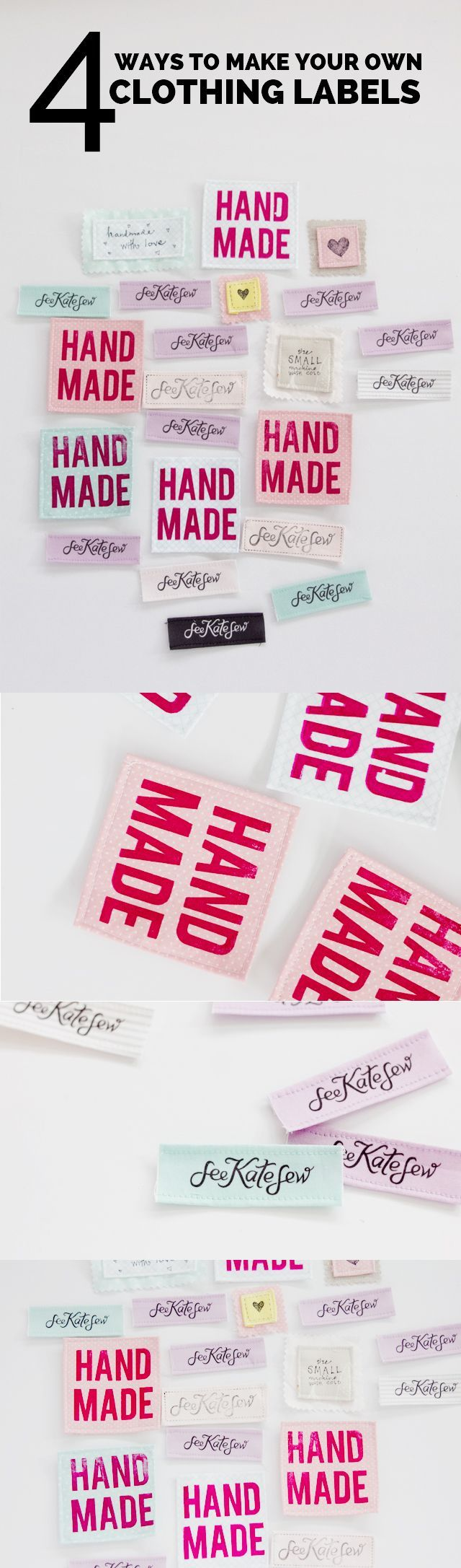 DIY SEWING LABELS | make your own clothing labels | handmade clothing labels | sewing tips and tricks || See Kate Sew #diysewinglabels #sewinglabels #sewingtips