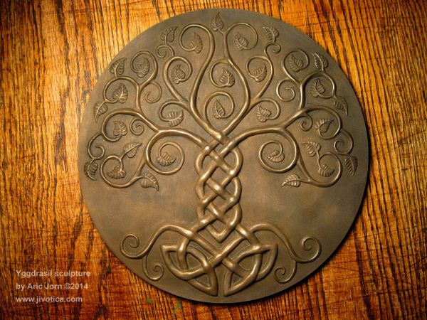 Yggdrasil: Norse (Viking) Tree of Life. Sculpted by Aric Jorn (Liljegren). Produced by Jivotica LLC ©2014