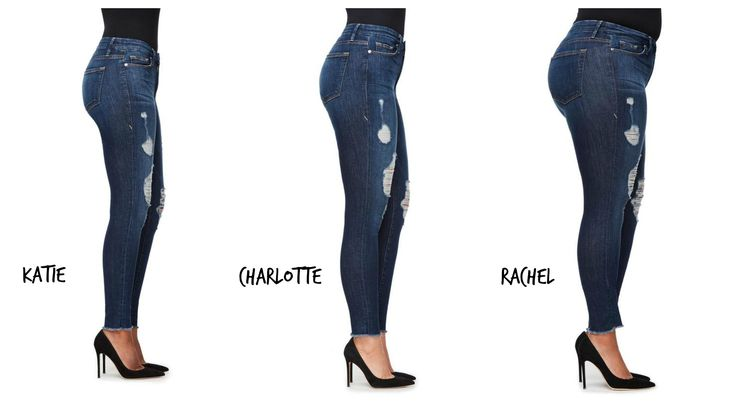 Same style of Good American jean worn by 3 girls from #goodsquad. This is how jeans should be sold online