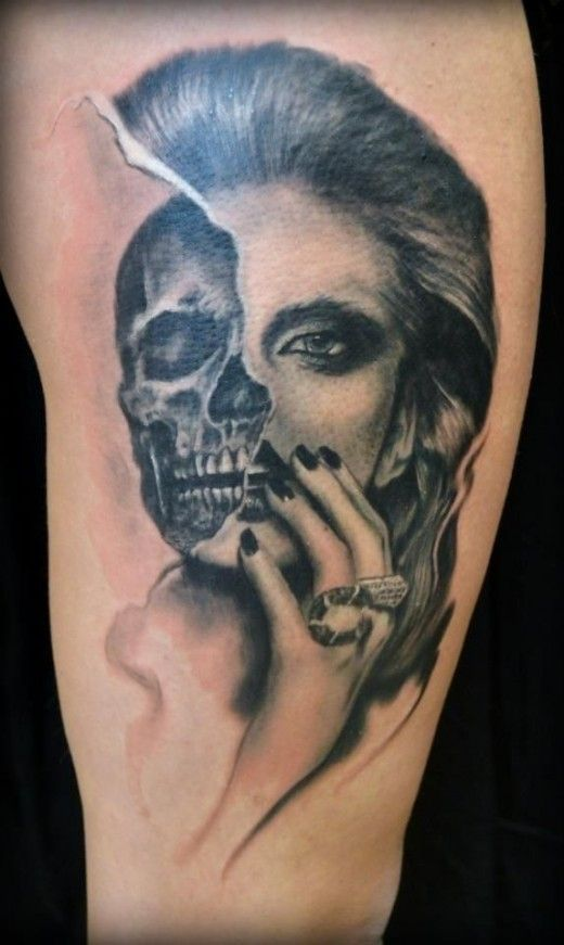 b89f93141fda8 Bad Ass Skull Tattoo Designs for Men and Women #Tattoosformen ...