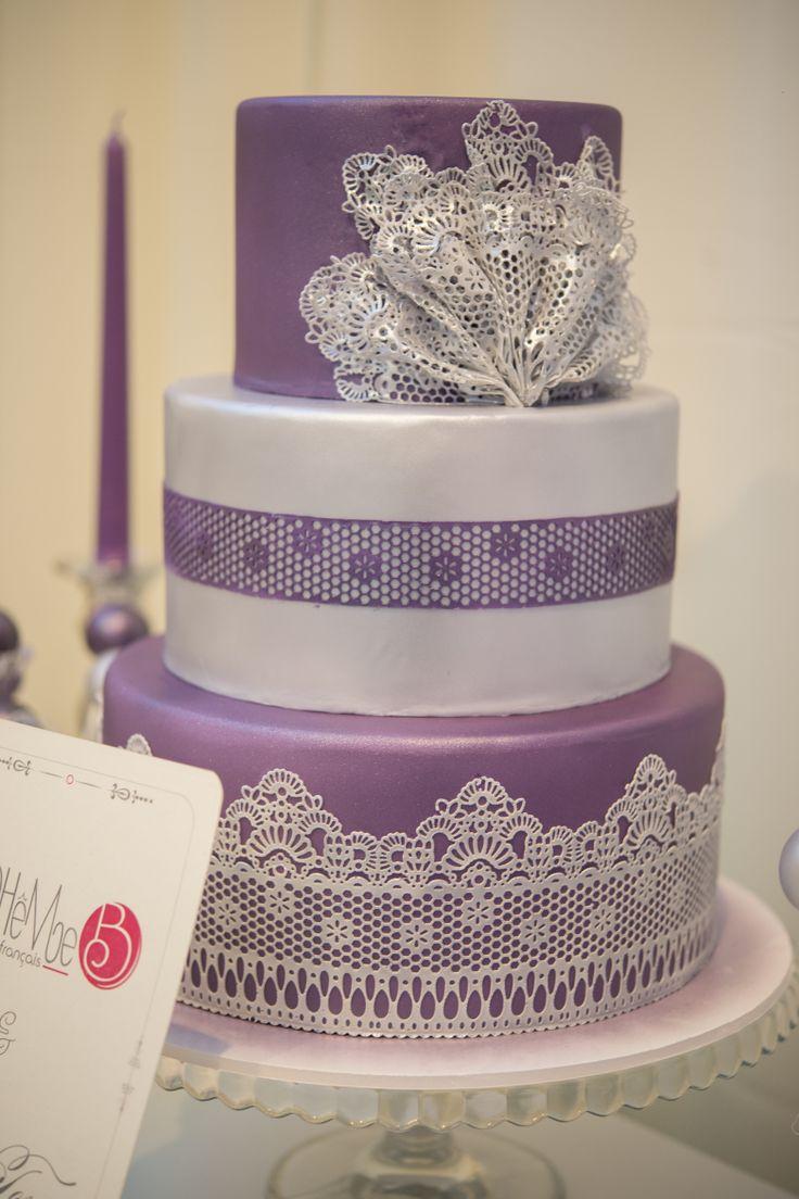 Lace wedding cake - Corina Toma and Boheme delices francaises