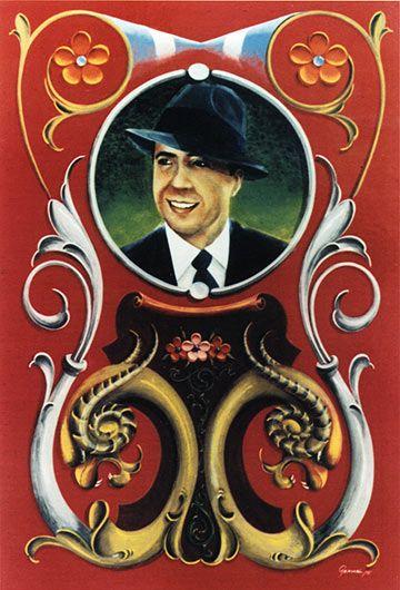 Fileteado Carlos Gardel