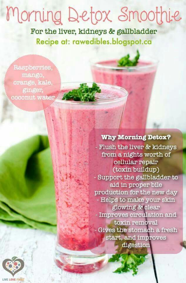 Morning detox smoothie