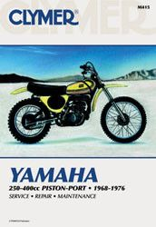 Clymer M415 Service Manual for 1968-76 Yamaha 250-400CC Piston-Port