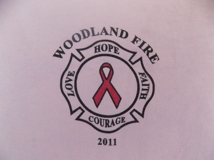 Woodland California Fire Dept Breast Cancer T Shirt - Mens Large  #Gildan #GraphicTee