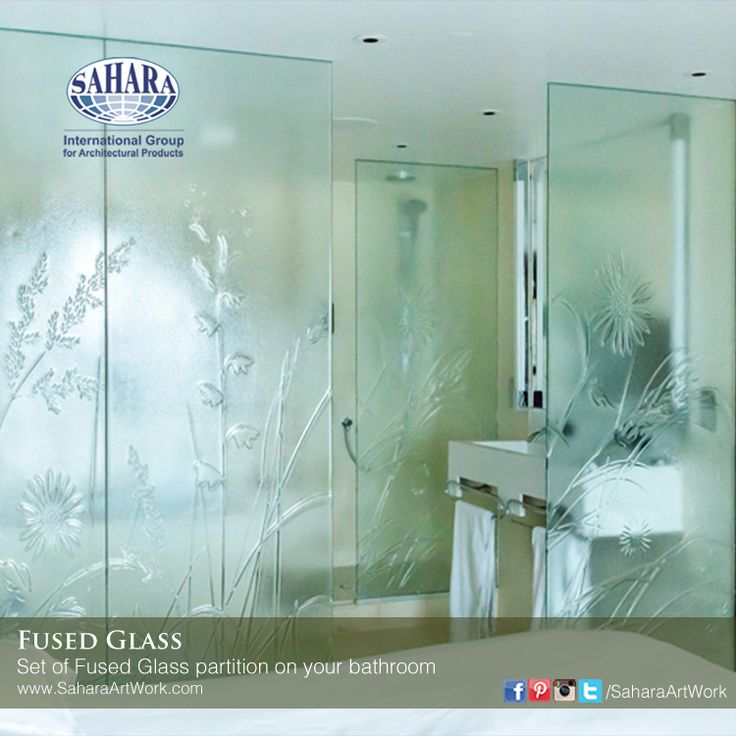 a very stylish bathroom fused glass partition!  We offer a range of colors and designs that will suit your different needs and applications.
