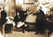 William H. Seward and Eduard de Stoeckl Negotiating the Alaska Purchase.