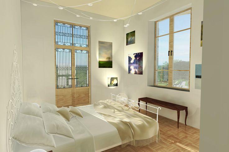 #Interiordesign #Rendering Camera da letto