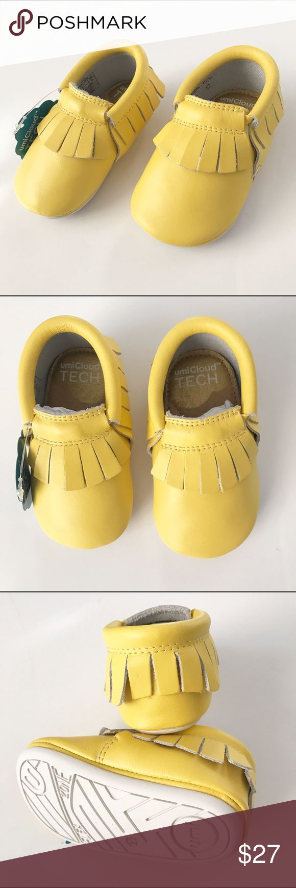 NWT! UmiBaby Yellow Moccasins Brand new in box! Adorable yellow moccasins with soft rubber soles. Retails for $50 Perfect for spring, summer and easter! Umi Shoes Moccasins