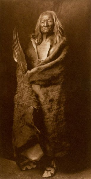 Edward S. Curtis - Black Eagle - Assiniboin. Rare and important Native American photographs for sale on CuratorsEye.com