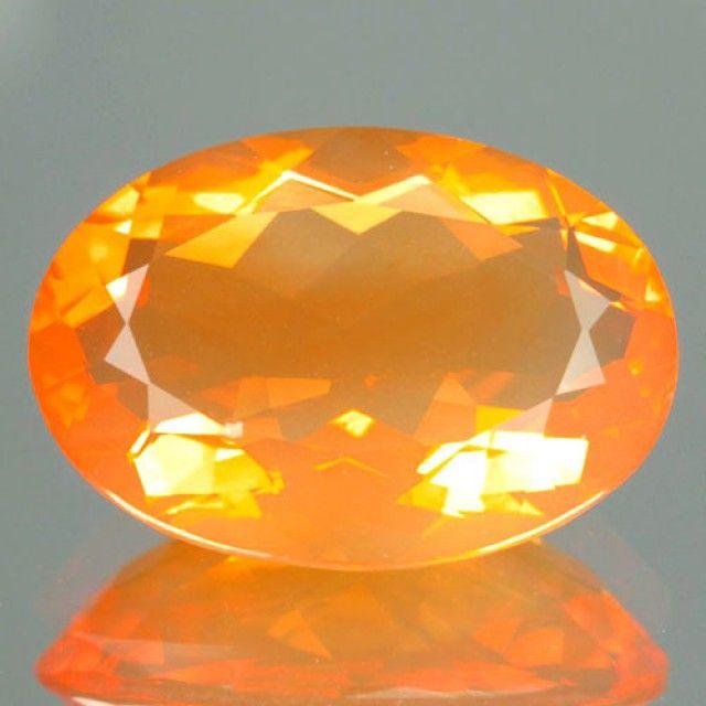 3.34 Cts Natural Orange Fire Opal Oval Cut - NR $1