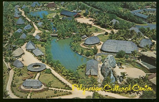 Polynesian Cultural Center, Oahu, Hawaii - POSTCARD  This is next to BYU Hawaii