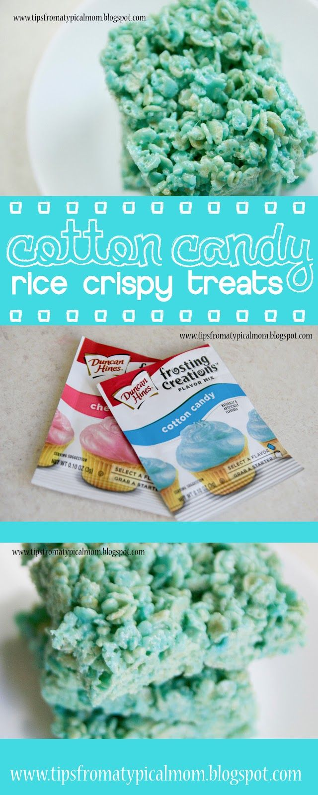 Cotton Candy Rice Crispy Treats - Tips from a Typical Mom (bake sale cookies rice krispies treats)