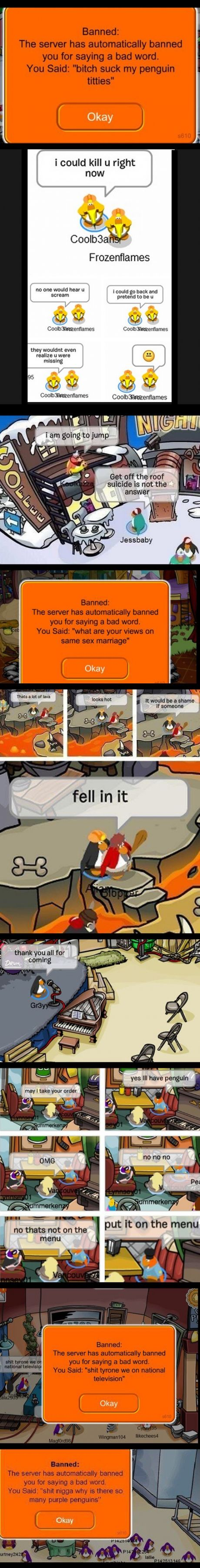 funny things said on club penguin
