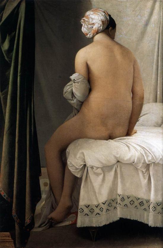 Jean Auguste Dominique Ingres - La Grande Baigneuse, 1808, pittura a olio, Musée du Louvre, Paris
