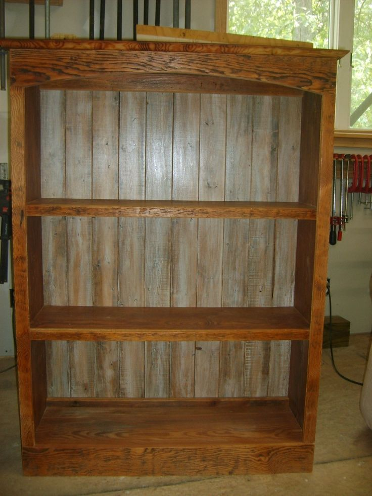 best 25 reclaimed wood bookcase ideas on pinterest white wood bookcase rustic bookshelf and. Black Bedroom Furniture Sets. Home Design Ideas