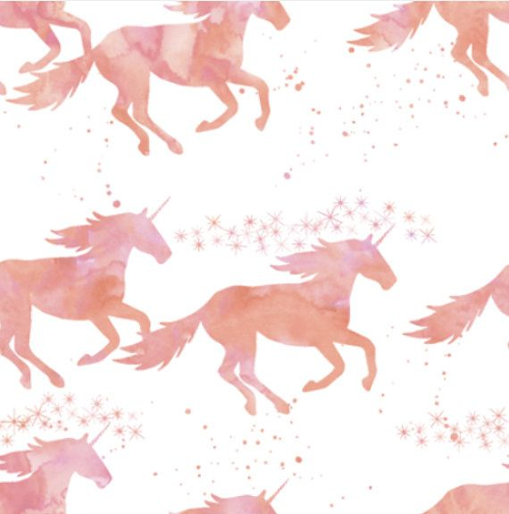 Spoonflower's watercolor unicorns in peach fabric designed by Little Arrow Designs. Printed on Organic Cotton Knit, Linen Cotton Canvas, Organic Cotton Sateen, Kona Cotton, Basic Cotton Ultra, or Cotton Poplin fabric.   This fabric is digitally printed on demand as orders are placed. Unlike conventional textile manufacturing, very little waste of fabric, ink, water or electricity is used. We print using eco-friendly, water-based inks on natural and synthetic fiber textiles. No additional...