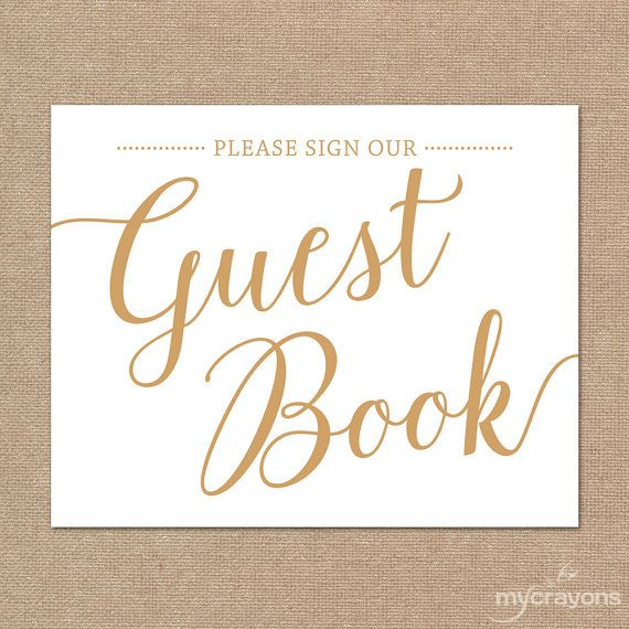 Please Sign Our Guestbook Printable Guest Book Instant Download