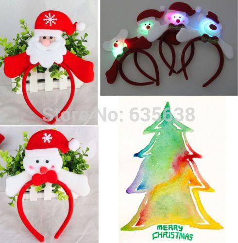 hete branden christmas santa hoofdband cartoon rode haar hoepel xmas geschenken kostuum $1.88 (free shipping)