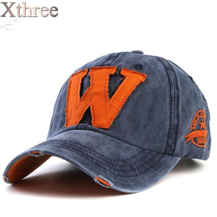 1xthree caliente algodón bordado de la letra W gorra de béisbol casquillos del snapback equipada hueso casquette sombrero para hombres sombreros personalizados