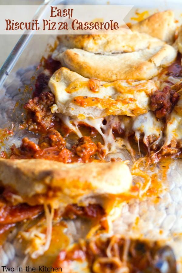 Easy Biscuit Pizza Casserole  Two in the Kitchen viv