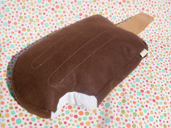 Ice Cream Pillow: Chocolate Pop Plush