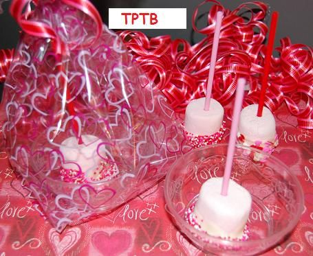 Valentine's Day Marshmallow Pops Food Craft for Kids