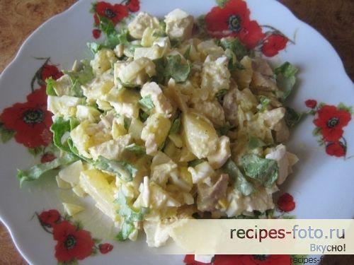 Салат с курицей и ананасом рецепт с фото пошагово