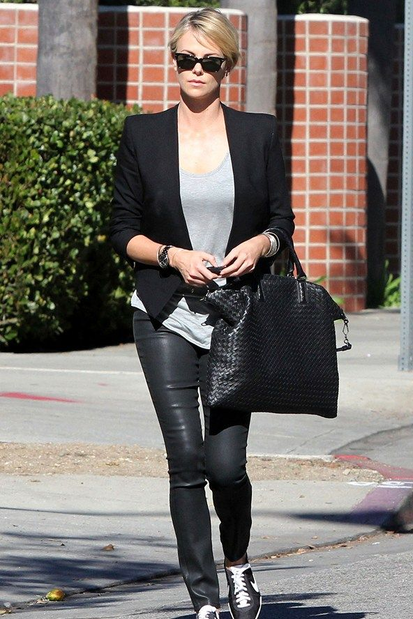 Leather Trousers Wet Look Jeans Trend - Celebrity Fashion (Glamour.com UK)