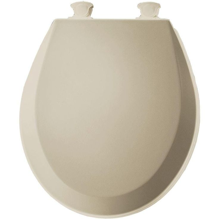 Bemis 500Ec006 Molded Wood Round Toilet Seat With Easy Clean And Change Hinge, B