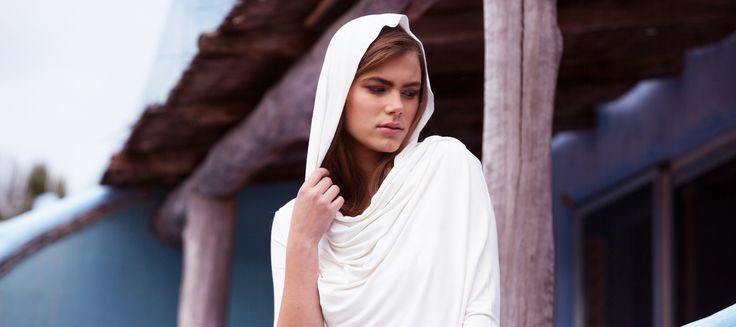 Bodypeace bamboo goddess wrap in cream. Also comes in black, charcoal, azure blue and ocean teal. www.bodypeacebamboo.com