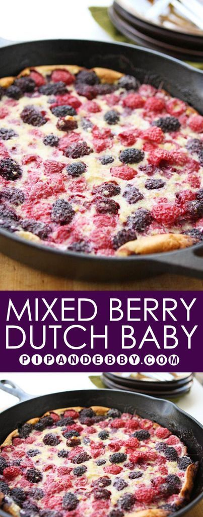 Mixed-Berry Dutch Baby | Make breakfast unique! This one is incredibly tasty!!