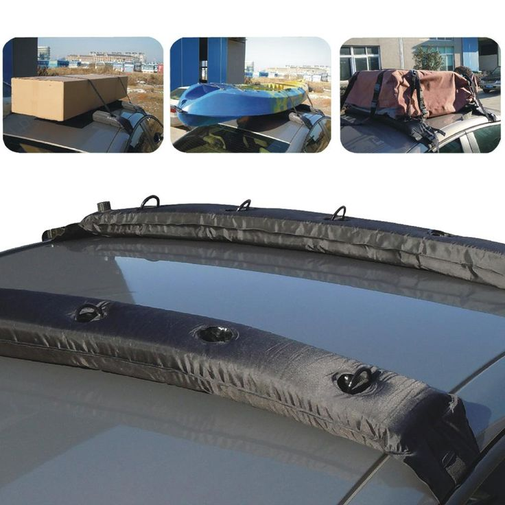 Inflatable Universal Roof Top Rack Soft Luggage Carrier Travel Touring For Car Kayak 2Pcs