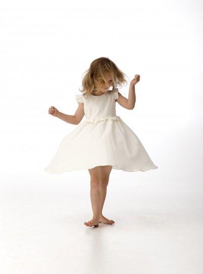 Chalk n Cheese Tina Twirl Dress – Ivory Linen