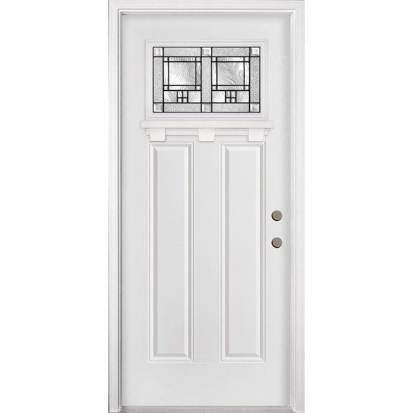 34 In X 80 In Concord Right Hand Steel Entry Door With Images