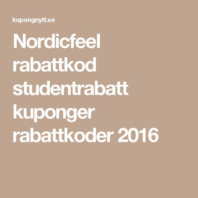 rabattkod nordicfeel studentrabatt