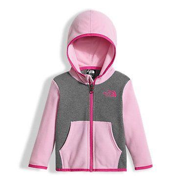 The North Face Infant Baby Glacier Full Zip Hoodie Sweatshirt