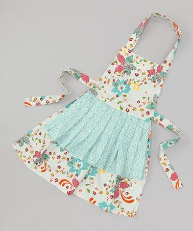 Take a look at this Past Perfect Jessica Apron - Girls by asd living on #zulily today!