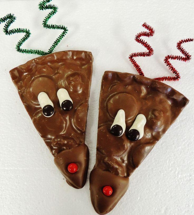 Chocolate Pizza® - Reindeer Slice, milk chocolate, a holiday classic, 6 oz - Chocolate Pizza Company