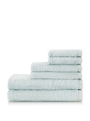 Esplama 6-Piece Bamboo Viscose Towel Set, Seaglass