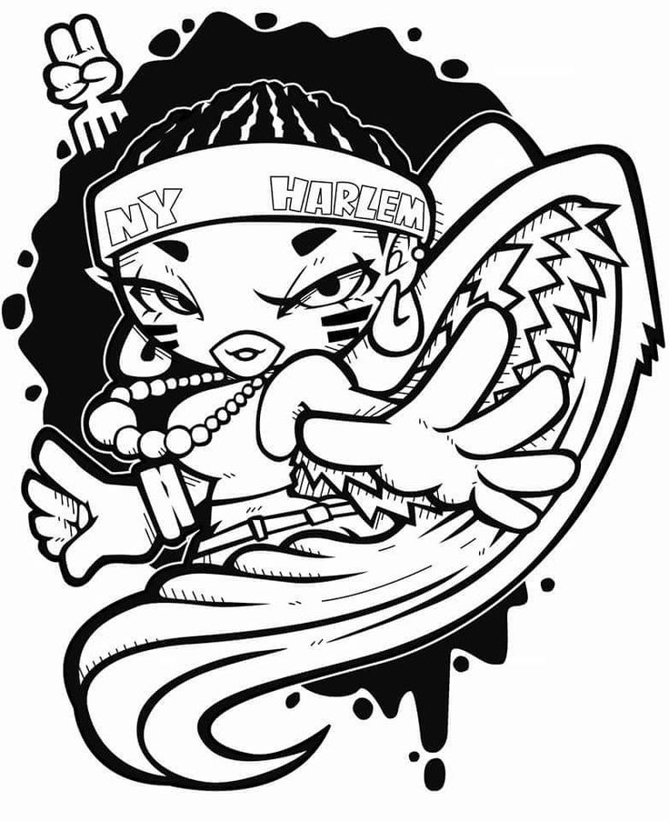 1092 best hip hop coloring book compiled by jamee for Hip hop coloring pages